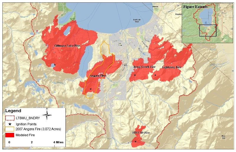 Fire Analysis Within The Lake Tahoe Basin